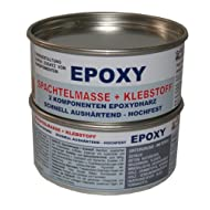 EPOXY Klebstoff + Spachtelmasse 2 Komponenten Epoxydharz 1kg