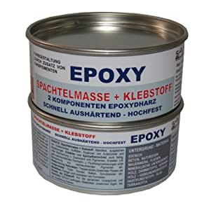 epoxy klebstoff spachtelmasse 2 komponenten epoxydharz 1kg auto. Black Bedroom Furniture Sets. Home Design Ideas