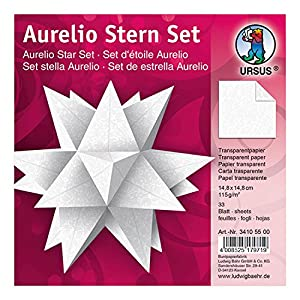Ursus 34005500Aurelio Estrella de Hojas, Papel Transparente
