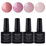 Annabelle Esmaltes Permanentes Para Uñas Nail Art Soak Off UV LED Esmalte Permanente de gel (Lot 4 pcs 7.3ML/pc ) 079