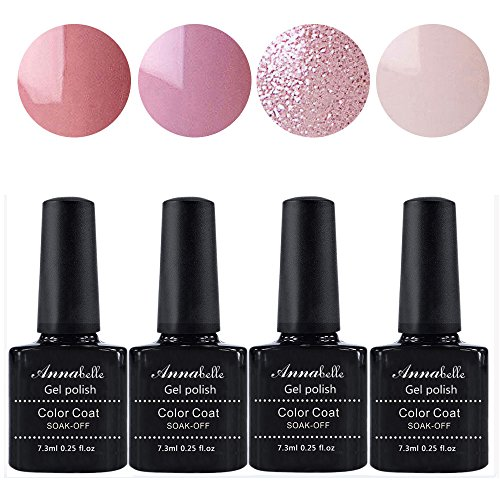Annabelle UV Nagellack Soak Off UV Gel Nagellack Nail Art Top Coat Base Coat (7.3ml/pc Lot de 4) 079