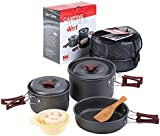 Naturehike 2-3 Person Non-stick Picnic Pot And Pan Camping Pot Sets Outdoor Folding Cookware