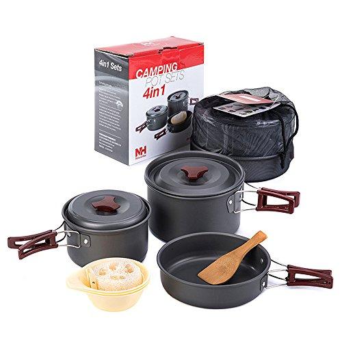 Ubens Naturehike 2-3 Person Pieghevole Picnic Pentole e padelle Campeggio Pentole Outdoor Non-stick Cookware