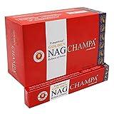 YesMandala 12 Cajas de Incienso Golden Nag Champa,180 Varillas el Pack