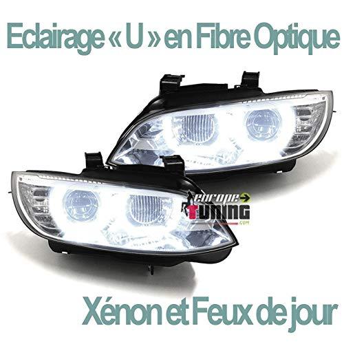 europetuning - 04760 - PHARES FEUX CELIS LEDS EN U SERIE 3 E92 & E93 PHASES 1 AU XENON COUPE CABRIOLET