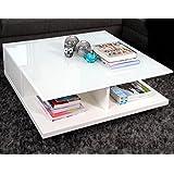 Couchtisch Weiss 100x100 Cm Abbrechen Couch Tisch Hochglanz Mit Schublade 100x100cm Quadratisch