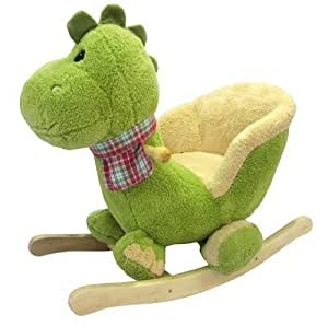 dino bascule en peluche douce pour enfant bebe animaux dinosaur jeux et jouets. Black Bedroom Furniture Sets. Home Design Ideas