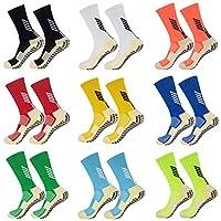 جوارب رياضية مضادة للانزلاق من كيسوكس - جوارب غير قابلة للانزلاق لرياضة كرة القدم والجري وكرة السلة 1 زوج ازرق فاتح for US 6-13 ,EU36-47