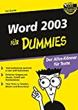 Word 2003 für Dummies
