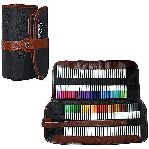 Handi Stitch Bolsa de Tela para 72 Lápices de Colores- ¡Perfecta para Artistas/Dibujar/Colorear! (72 Pcs)