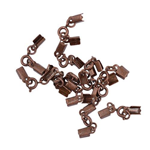 MagiDeal 12pcs Antik Metall Clips Frühling Verschluss Crimp Enden DIY Schmuck - Retro Kupfer (Erkenntnisse Schmuck Liefert)
