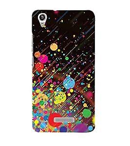 Colourful Dots Pattern 3D Hard Polycarbonate Designer Back Case Cover for Lava Pixel V1