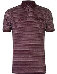 Pierre Cardin Rayé T-Shirt Manche Courte Top Haut Sport Casual Hommes