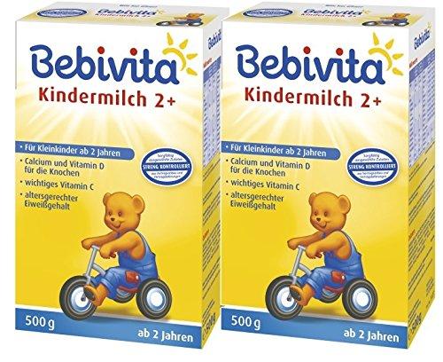 Bebivita Kindermilch 2+, ab dem 2. Lebensjahr, 2er Pack (2 x 500g)