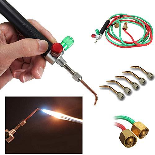 Gaddrt Mini Schmuck Gas Schweißen Micro Fackel Schmuck Löten Löten Schneidwerkzeuge Mikroschweißen 22 x 14.5 x 5.5cm