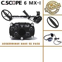 Detector de metales CS 6MX con protege disco y casco de audio