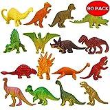 THE TWIDDLERS 90x Dinosaurier Spielzeug Figuren Set für Kinder aus Plastik – Mini Dino Spielfiguren Dinosaurierset, Plastikdinosaurier & Minidinosaurier – Ideal als Partyzubehör für Kindergeburtstag