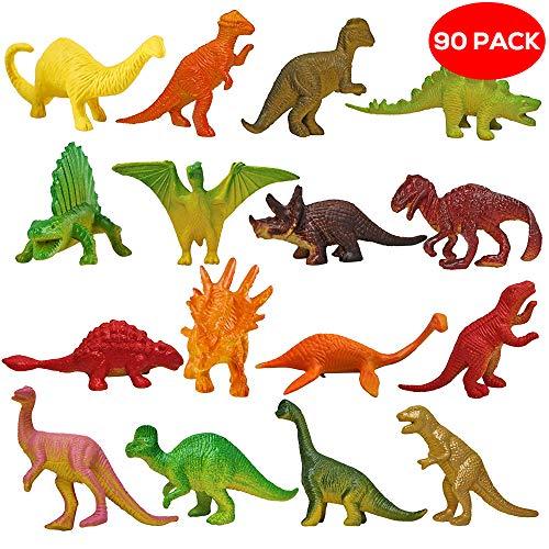 THE TWIDDLERS Pack DE 90 Dinosaurios - Enorme Selección - Juguete estupendo para Detalles de Fiestas - Relleno de Piñatas - Navidad, Cumpleaños y Mucho Más
