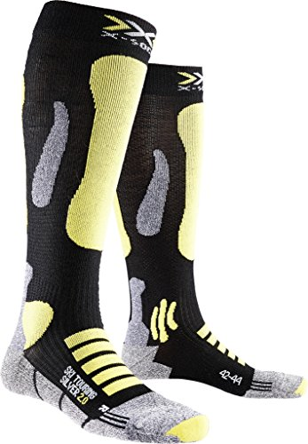 X-Socks Herren Ski Touring Silver 2.0 Socken, Black/Yellow Sunshine, 42/44 (Touring Ski Ski)