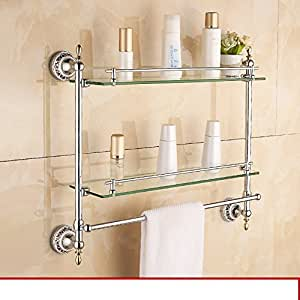 Continental Blue And White Porcelain Towel Rack Towel Bar Sanitary Stainless Steel Bathroom