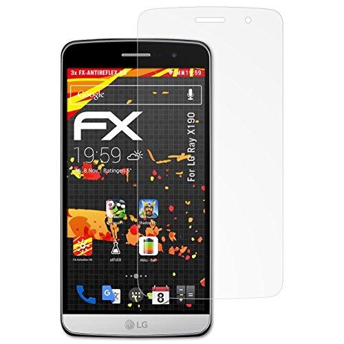 atFolix Schutzfolie kompatibel mit LG Ray X190 / Zone Bildschirmschutzfolie, HD-Entspiegelung FX Folie (3X)