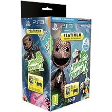 Manette PS3 Dual Shock 3 - noire + Little Big Planet 2 - platinum [Importación francesa]