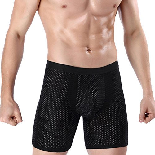 ffc7c718b Zhhlaixing Stretch Calzoncillos Bóxers Hombre Urlta Thin Ice Silk Trunk  Boxer Active-Wear Hips Seamless
