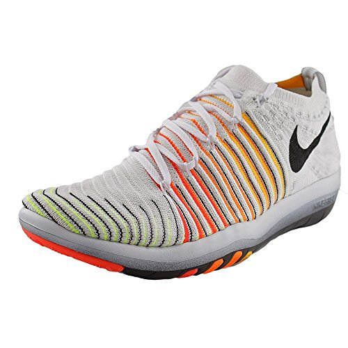 Nike Wm Free Transform Flyknit, Chaussures de Gymnastique Femme, Taille Blanc Cassé - Blanco (White / Black-Lsr Orng-Ttl Orng)