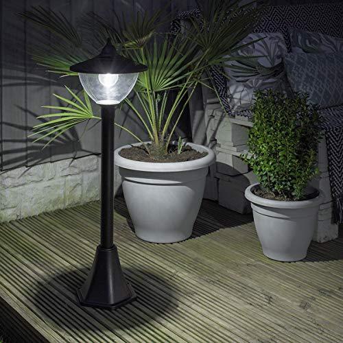 Lampadaire Solaire LED Extérieur en Aluminium - Design Traditionnel ou Moderne - Taille et Têtes au Choix - Produit Waterproof pour le Jardin par Festive Lights (Moderne Globe, 120cm)