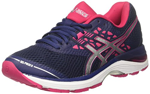 ASICS Gel-Pulse 9, Scarpe Running Donna, Blu (Indigo Blue/Silver/Bright Rose 4993), 39 EU