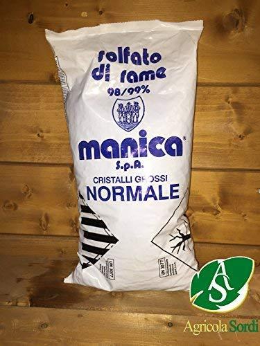 MANICA SOLFATO DI RAME NORMALE SACCO DA 5KG RAMATO VERDERAME 98/99% CRISTALLI GROSSI -