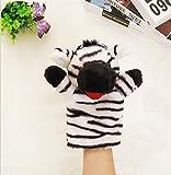 Warmman Entzückende Fingerpuppen Handpuppen Enten Stofftiere für Kinder Spielen Story Toy (Zebra)