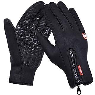 ANGTUO Ski-Handschuhe, Sport-Touchscreen Senior Super Warm Anti-Rutsch-Winddichte Handschuhe mit verstellbarem Zipper