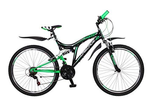 Frank Bikes 24 Zoll Kinderfahrrad Mountainbike Fahrrad Vollgefedert Jugendfahrrad Kinderrad Rad Shimano 18-Gang X-TREME