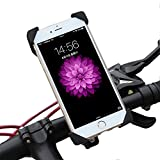 Visun Phone Holder,Bike Mount, Universal Cell Phone Bicycle Handlebar & Motorcycle Holder Cradle with 360 Rotate for iPhone And All Android phone Google Nexus 5 4 and GPS Device Up to 3.7in wide