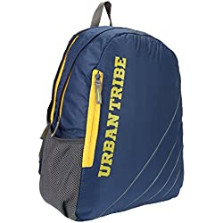 Urban Tribe Capetown 25 litres Navy Blue Laptop Backpack with Anti-Theft Feature.