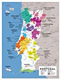 Wein Folly Portugal Wein Karte Poster Print, 30,5x