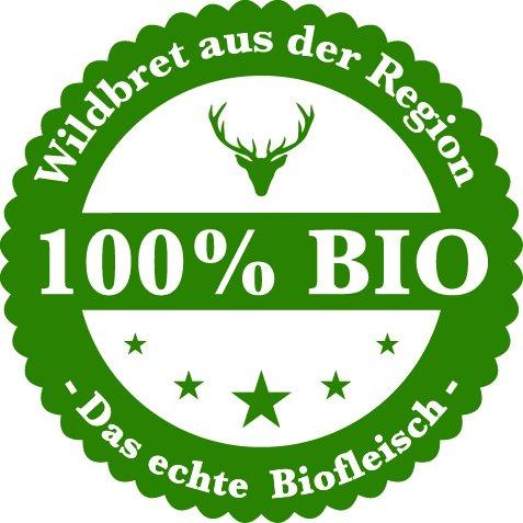 Preisvergleich Produktbild 100% Bio Siegel Wildaufkleber Jagdaufkleber Wildbretaufkleber 50 Stück