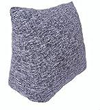 Vercart Sofa Rückenlehne Kopfkissen,Keilkissen, Rückenkissen, Fernsehkissen, Ergokissen weich und bequem aus softer Microfaser,60*30*50cm, waschbar Mischfarbe