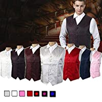Amazing Tour Mens Waistcoat Top Swirl Wedding Party Chest Available Silver