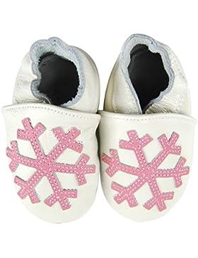 axy Baby Lederschuhe Lauflernschuhe Krabbelschuhe Babyschuhe Kindergartenschuhe - Schneeflocken