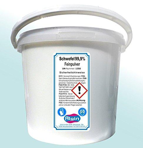 Schwefelpulver 4 kg im 5 Liter Eimer Schwefel-Fein-Pulver gereinigt und sehr fein -
