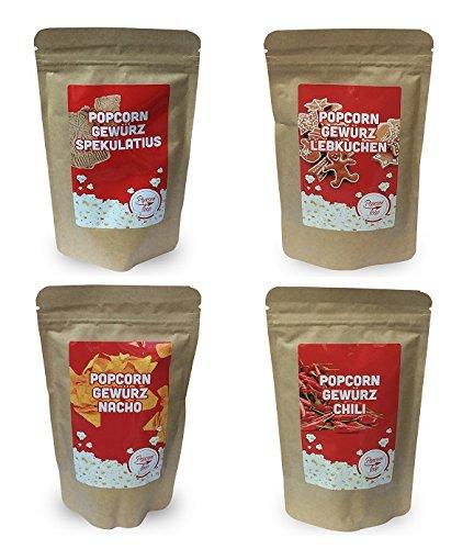 """Preisvergleich Produktbild Popcornloop Gewürzmix """"Spekulatius,  Lebkuchen,  Nacho,  Chili"""",  Neuer & Leckerer Geschmack für ihr Popcorn!. Selbst Frisch Zubereiten - Ein Gesunder Snack - Individuell Würzen - Einfach Lecker - Popcorn wie im Kino! ..."""