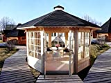 VB Italia Garten-Pavillon aus Holz, 10m²