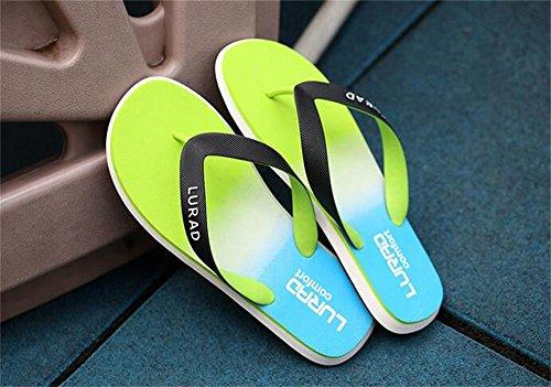 ALUK- Sandales d'été - Hommes Pieds Wear Wear Trend Simple Beach Cool Chaussons ( Couleur : Vert , taille : 40 ) Vert