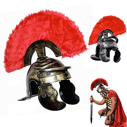 WSJDE Cosplay Tanz Ancient Rome Helm Warrior Cap Spartacus - Warrior King Kostüm Kind