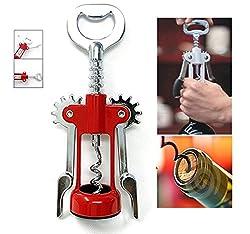 SahiBUY Wing Style Wine Bottle Opener Corkscrew Wine Cork Puller