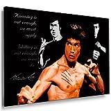 Bild auf Keilrahmen - Bruce Lee - Fotoleinwand24 / AA0158 / Bunt / 60x40 cm