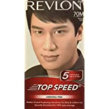 Revlon Top Speed Hair Color Man, Natural Black 70M, (Combo Pack)