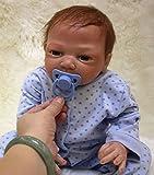 ZIYIUI Lebensechte Boy Reborn Babypuppe 18 inch 45 cm Soft Silikon Vinyl Neugeborenen Realistische Kind Geburtstagsgeschenk